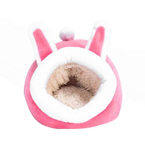 POPETPOP Cama Cálida para Animales Pequeños - Nido para Dormir de Invierno para Mascotas Casa Cúbica de Animales Pequeños para Cerdo Holandés Hámster Cobayas Erizo Rata Y Chinchilla