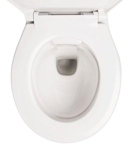 Wand-WC-Set Jonas | Spülrandlos | Inklusive WC-Sitz | Tiefspüler | Weiß | Spülrandlose Toilette | Spülrandloses Hänge-WC | Hängetoilette | Hygiene Plus | einfache Reinigung - 7