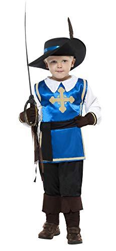 Smiffys Costume enfant de mousquetaire, haut, pantalon, chapeau et gants