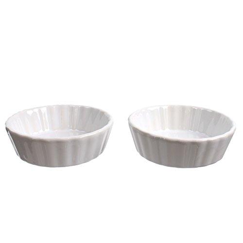 Lily cook KP5342 Ramequin Tartelette - 2 pcs, CERAMIQUE, Blanc, 10 x 10 x 3 cm