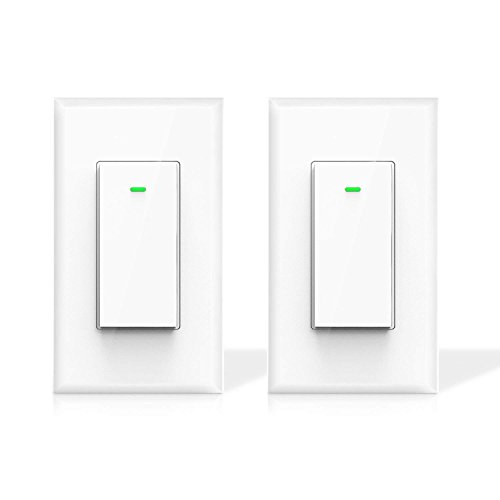 Maxcio Smart Wi-Fi Light Switch, No Hub Required, Compatible with Amazon Alexa and Google Assistant, Remote Control/Schedule Your Fixtures Anywhere, 15A - 2 Packs (Neutral Wire Required)