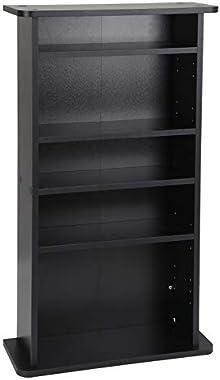 JupiterForce Adjustable Blue-Ray Cabinet CDs Book Shelves Video Games Arts Shelf Media Storage Furniture,Black