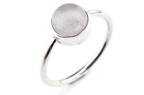 Ring Silber 925 Sterlingsilber Rosenquarz rosa Stein (Nr: MRI 78), Ringgröße:56 mm/Ø 17.8 mm