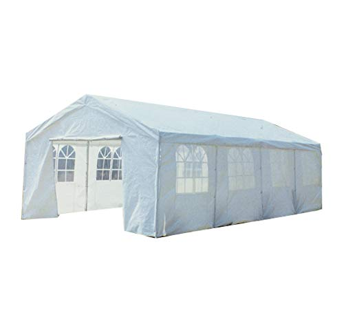 8M X 4M Garden Large Marquee Wedding/Party Tent Gazebo - White Showerproof