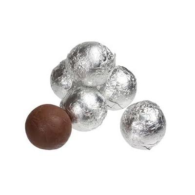 milk chocolate silver foil wrapped balls 100g bag (1/10th kilo) Milk Chocolate Silver Foil Wrapped Balls 100g Bag (1/10th Kilo) 31z2HztfLHL