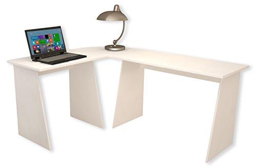 """VCM Eckschreibtisch Schreibtisch Büromöbel Computertisch Winkeltisch PC Tisch Büro Möbel Weiß 74 x 135 x 105 \""""Masola\"""""""