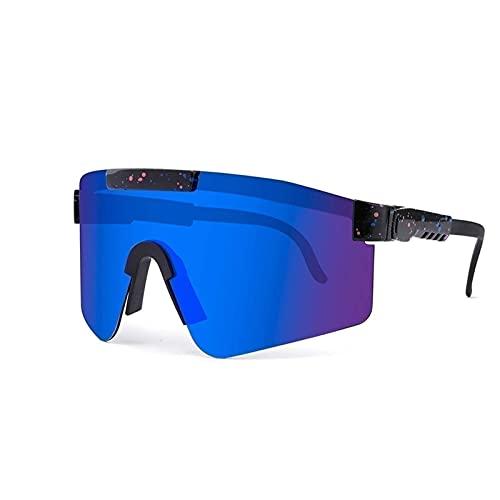 ZXQ Gafas De Sol Polarizadas, para Mujer Hombre Gafas Deportivas Polarizadas, Pit-Vipers Gafas De Ciclismo Al Aire Libre Gafas De Sol Deportivas Lente UV400, Montura Tr90
