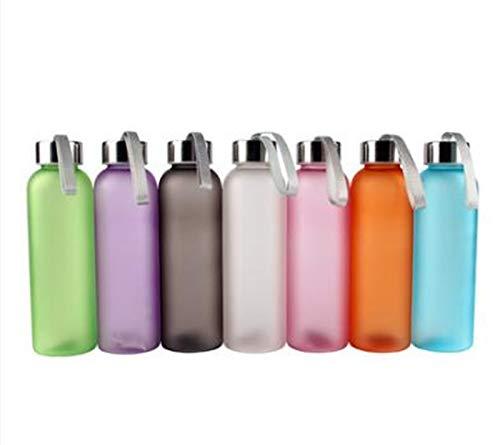 ZYSTMCQZ Del Color del Caramelo Deportes Conveniente Botella de Agua portátil Cuerda de Seguridad sellada Salas de Estudio