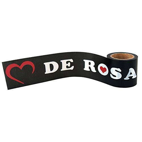 DE ROSA デローザ derosa YOJO TAPE 自転車柄 ハート 養生テープ DIY (黒、ハート柄)