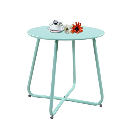 WXJWPZ Iron Side Table Nordic Living Room Small Coffee Table Simple Mini Round Sofa Corner Table Bedside Balcony Small Table