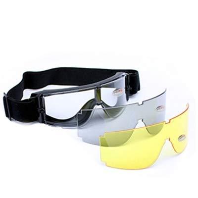 Duhongmei123 Gafas de Moda X800 Goggle UV400 Protección con Lente Transparente/Negro/Amarillo Occhiali