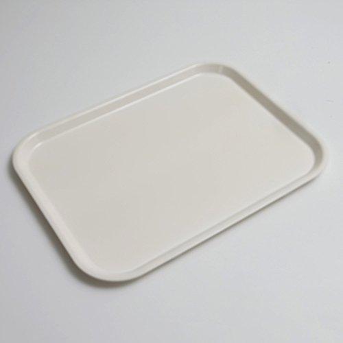 食洗機対応 ノンスリップトレー ホワイト 38.5cm(M) 白無地