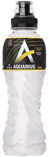 12 x Aquarius Lemon PET-Flaschen (12 x 0,5 L) EINWEG inkl. gratis FiveStar Kugelschreiber
