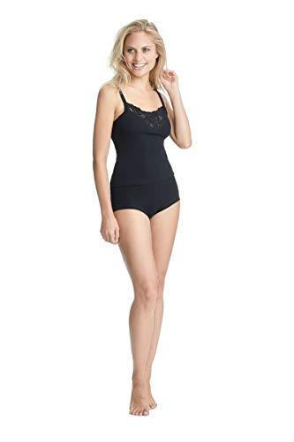 con-ta Taillenslip, Unterwäsche aus weicher Baumwolle, Slip für perfekte Bequemlichkeit, Klassische Damenbekleidung, in Schwarz, Größe: 46