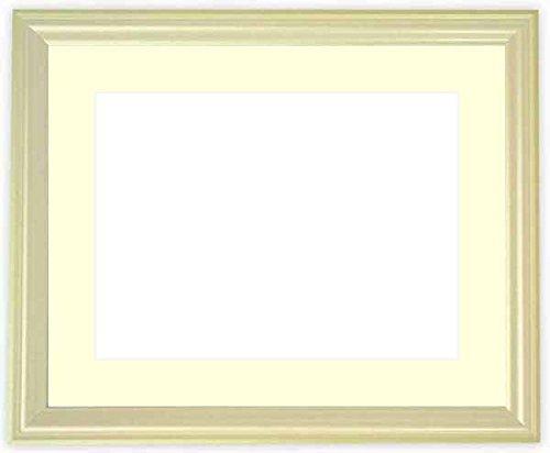 写真用額縁 5654/パールグリーン写真ワイド六つ切(305×203mm) ガラス マット付 マット色:黒