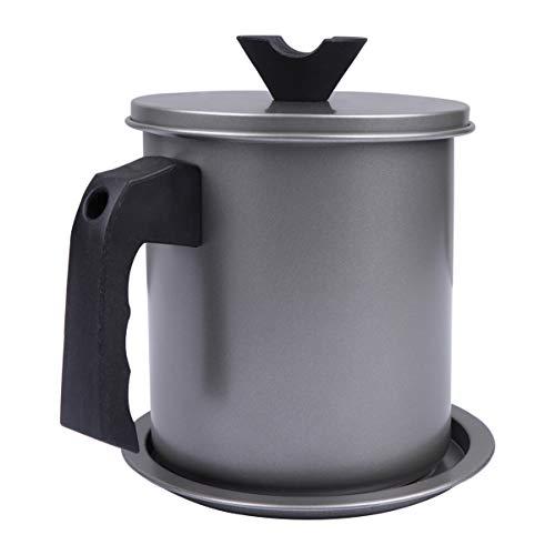 Hemoton - Recipiente para grasas (4 L, capacidad para guardar tarro de fritura, filtro de aceite, herramienta para cocina, restaurante, barbacoa)