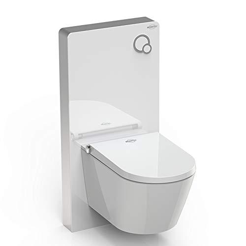 MEWATEC Vorteilsset Marken Dusch-WC Komplettanlage Memphis Basic inkl. Premium Sanitärmodul MagicWall weiss