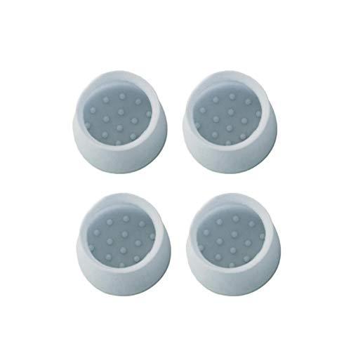 Zhi Zhi 4 stücke Tischstuhl Beinkappen für Wohnmöbel Fußschutz rutschfeste Transparente PVC-Abdeckungen Lochstecker (Farbe : 4cm Blue)