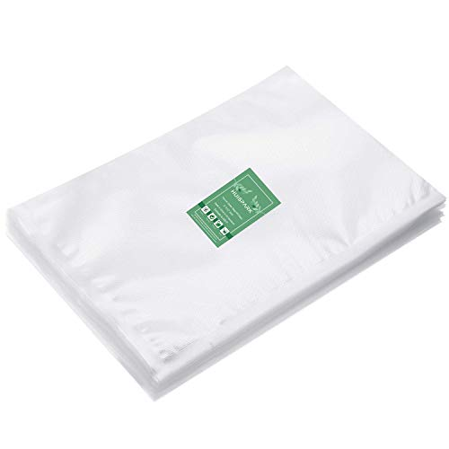 8×12 Inch Vacuum Sealer Bags,Pre-Cut Design Bags for Vacuum Sealer Heat Seal Bag Boilsafe Freezable Resizable(50Pcs)