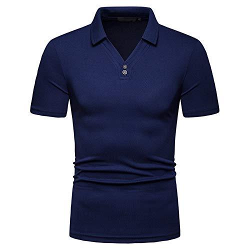 SSBZYES Camisetas para Hombre Camisetas De Manga Corta para Hombre Verano Moda para Hombre Casual Cuello En V Código Europeo Suelto Camisa De Manga Corta Polot