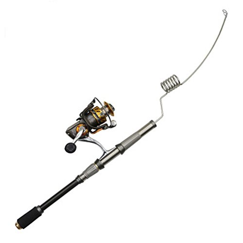 Emmrod F Stainless Steel Elastic Fishing Rod Type 3000 12 +1 Axis Metal Spring Reel Fishing Combination Sea Raft Fishing Boat Marine Fishing Rod GSZ-7C-S