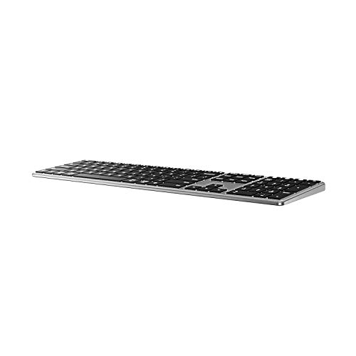 Backlit Bluetooth Keyboard for Mac, Advanced Aluminum Multi-Device Keyboard, Ultra-Slim Rechargeable Wireless Keyboard, Compatible with Apple MacBook Pro/Air, iMac, iPad, iPhone