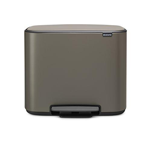 Brabantia 121449 BO Pedal BO Pedal Bin 36L Platinum,1 Inner Bucket: 36 L,Platinum