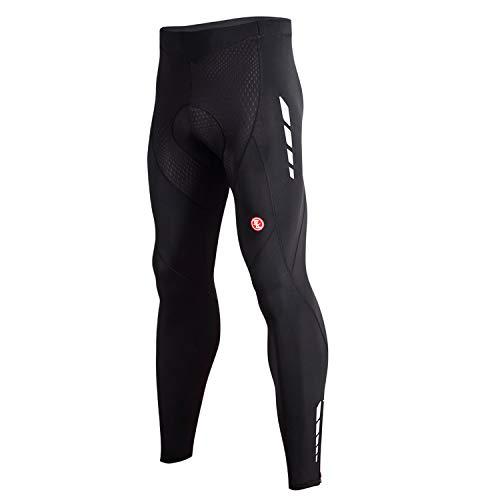 Souke Sports メンズ サイクルパンツ ロング 4Dパッド付き 痛み軽減 サイクリング タイツ 裏起毛 レーサー...