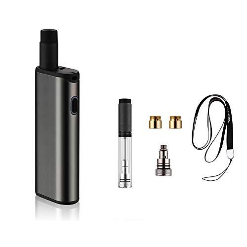 Ploom Tech プルームテック 互換 電子たばこ 1台3役 420mAhバッテリー長持ち 50パフお知らせバイブ機能搭載 金属ボデー 軽量 小型 アトマイザー コイル アダプター等7点セット (ダークグレー)