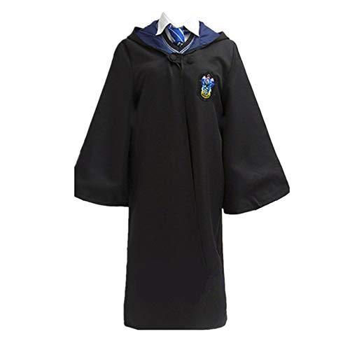 Super T Uniformi Costume Cosplay, Mantello di Mantello Magica di Halloween con Cravatta (Blu, M)