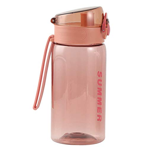 YUUGA Bounce Water Bottle, 500ML Portable Sports Bottle Bounce Cover Rope Attached Camping Sport Outdoors Travel Cup(Pink)
