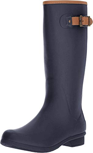Chooka Women's Tall Memory Foam Rain Boot, Navy, 8 M US