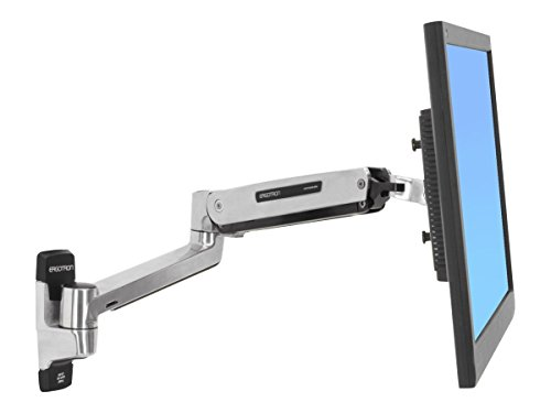 "Ergotron LX Sit-Stand Wall Mount LCD Arm 42"" Acero inoxidable - Soporte de pared para pantalla plana (11,3 kg, 106,7 cm (42""), 75 x 75 mm, 200 x 100 mm, Acero inoxidable)"