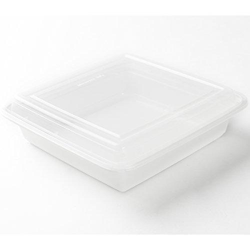 Decor Service Menu Boîtes, Plastique, Blanc, 21 x 21 x 6 cm