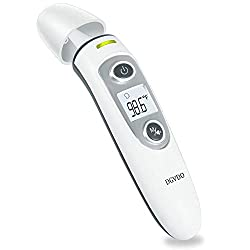 Non-Contact Forehead Thermometers, No Touch Digital Infrared Thermometer for Adults, Kids and Baby, Touchless Thermometer Within 0.4 Inch Distance, Instant Reading, Fever Alarm, Memory Function