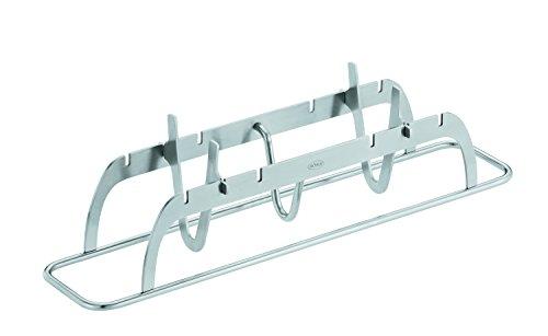 Rösle Fischhalter, Edelstahl 18/10, geeignet für Fische von 20-40 cm, Variable Positionierung, spülmaschinengeeignet, 30,5 x 6,5 x 8,5 cm
