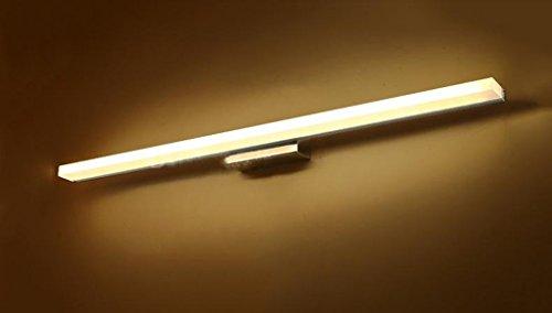 Lámpara Luces del espejo del cuarto de baño, LED Niebla impermeable Cuarto de baño WC Fregadero de la pared Lavabo del fregadero Lámparas del gabinete Luces de baño (Color : Gold)