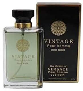 VINTAGE POUR HOMME OUD NOIR Cologne for Men With Luxurious Suede NovoGlow Pouch, 100ml – 3.3 oz – Perfect Gift For Men