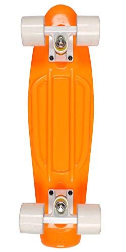 Two Bare Feet Serie Edge - Cruiser Skateboard Completo, Retro in plastica, 57 cm, Stile Vintage Anni 70
