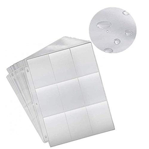 Kingsie 9ポケットシート 50枚セット トレカ用 3穴 9ポケット リフィル カードファイル バインダー 透明 ゲーム カード コレクション用ファイル
