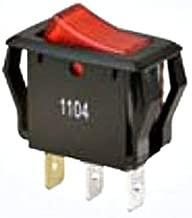 Buchanan 774039 Ideal Appliance Rocker Switch 1-Pole SPST 125/250 Volt AC 16/10 Amp Red Lighted Rocker