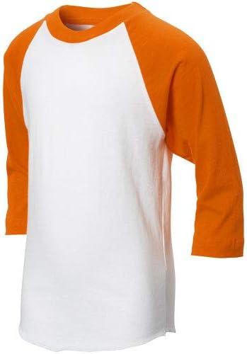 Champro Youth 3//4 Sleeve Baseball /& Softball Orange Baseball Tee
