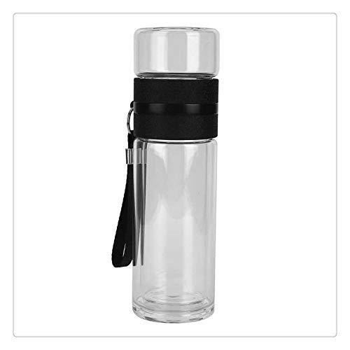 XXSHN Botella de separación de té SHENGHUO, infusor de té de Vidrio de Doble Pared, Botella de Agua, Suministros para Beber de Oficina en casa, Taza aislada