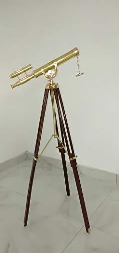 Dekor Mobilya Vintage Antiqula Solid Brass Nautical Port Marine Navy Telescope for Memorable Navy Gift and Outdoor Adventures