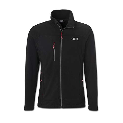 Audi collection 313170190 Audi Fleecejacke Herren schwarz, XXXL