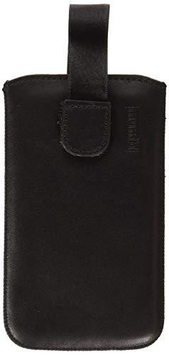 mumbi Echt Ledertasche kompatibel mit Huawei Y3 Hülle Leder Tasche Hülle Wallet, schwarz