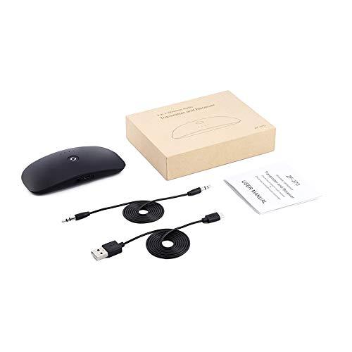 FDGHSXFGHDXFGHFG Transmisor de Audio/Receptor portátil 2 en 1 de 3,5 mm de Audio...