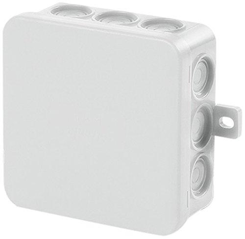 f-tronic verdeeldoos voor vochtige ruimtes, IP54, 85 x 85 x 40 mm, inhoud 1, grijs, E113