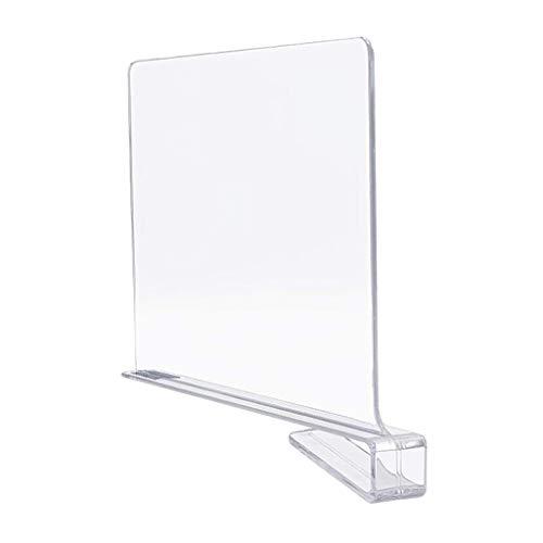 FLAMEER Separadores de estantes artesanales para armarios, separadores de estantes acrílicos, organizadores de estantes para armarios de Cocina de Dormitorio,