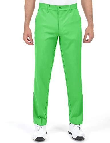 Herren-Golfhose, schmal zulaufend, Stretch, Khaki, leicht, flache Vorderseite, Khaki - Grün - 46W / 32L